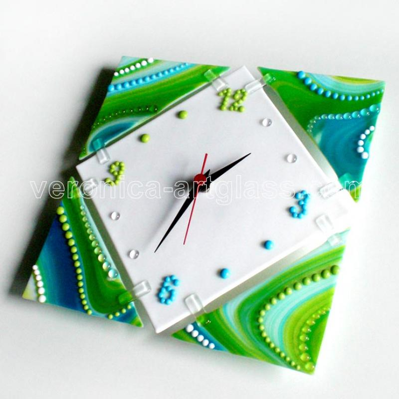 Fused Glass Wall Clock UNIVERSE